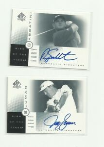 Rory Sabbatini & Jeff Sluman 2 Autographed Golf Card Lot - Upper Deck