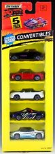 Matchbox Convertibles 5 Pack 1995 New Mitsubishi, Mustang, Corvette, Prowler