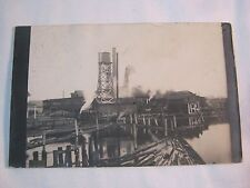 1911 INDUSTRY MILL SAWMILL FACTORY LUMBER OCONTO FALLS PHOTO POSTCARD       T*