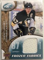 2009-10 SIdney Crosby Upper Deck Ice Frozen Fabrics Jersey #FR-SC Pittsburgh