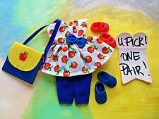 Kelly Doll Clothes *Red Apple Dress & Pants Outfit, Purse, U PIK 1 PR of Shoes*