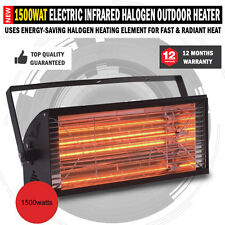 New 1500W Electric Infrared Radiant Strip Patio Outdoor Heater Panel Halogen