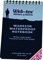 WATERPROOF NOTEPAD - All Weather Pocket Size Cadets Notebook Outdoor Hiking