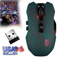 9D 3200DPI Optical 2.4Ghz Wireless Gaming Mouse Mice For Laptop PC USB Receiver