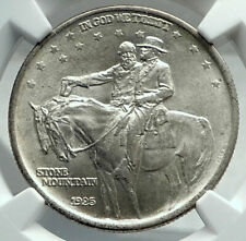 1925 STONE MOUNTAIN Civil War Commemorative Silver Half Dollar Coin NGC i79691