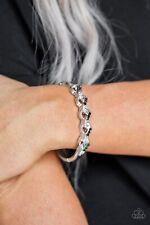 """""""Infinite Sparkle"""" Black Rhinestone Hinged Bangle Bracelet By Paparazzi"""