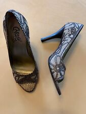Carlos Size 6 High Heel Shoes Brown Tan Cool Design
