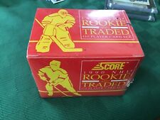 1990 NHL Score Hockey Factory Set Rookie and Traded, 110 cards