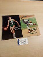"Gene Conley Autograped 14"" x 9 3/4"" Picture Photograph Boston Celtics Red Sox"