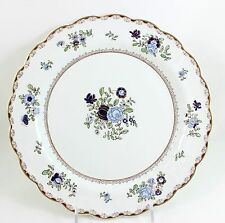 FINE LOT 3 ANTIQUE BOOTH'S CHINA PATTERN A8086 SCALLOPED SALAD PLATES GOLD BLUE