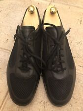 Men Prada Sneakers Shoes Black Leather Size UK 11 EU 45