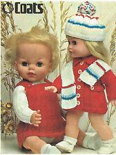 "Dolls knitting pattern.14""-18""doll.  Laminated copy. (V Doll 72)"