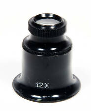 12X JEWELERS EYE LOUPE MAGNIFIER MAGNIFYING GLASS