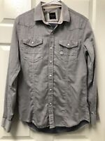 7 Diamonds Men's Western Pearl Snap Button Front Shirt Long Sleeve Slim Fit S