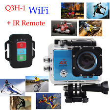 "Q3H-1 +Remote Control  2.0"" Ultra HD 4K WIFI Waterproof Sports Action Cam Camera"