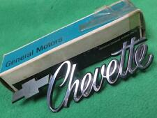 374675 GM 1976-1979 CHEVROLET CHEVETTE FRONT FENDER EMBLEM BADGE NAMEPLATE NOS