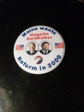 Maine Reform Party Pin Back Presidential Campaign Political 2000 Button Hagelin