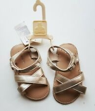 Baby GAP Girls Sandals Faux Leather Shoes Summer Sandals Girl Beach 18 - 24