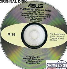 ASUS GENUINE VINTAGE ORIGINAL DISK FOR A7V Motherboard Drivers Disk M166