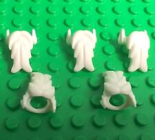Lego X5 Pc. New White Beard / Santa Claus / Old Man Mini Figures Body Wear Parts