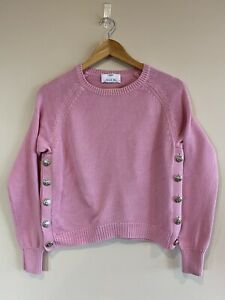 Allude 100% Cotton Pink Knit Jumper - Size S / Small