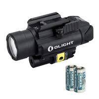 Olight PL-2RL Baldr White LED + Red Laser Handgun Weaponlight w/ 2x Batteries