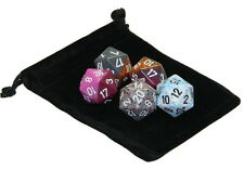 Set of 5 Random Chessex D20 Dice From Pound-O-Dice RPG D&D