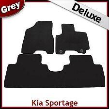 Kia Sportage Mk2 2004-2008 2-eyelets Tailored LUXURY 1300g Carpet Car Mats GREY