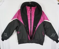 New listing Vtg Polaris Womens Pink Black Thermoloft Snowmobile Winter Jacket Sz Large?