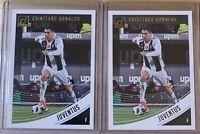 (2 LOT) 2018-19 Cristiano Ronaldo Panini Donruss Soccer #9 Juventus