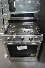 "Samsung Nx58M6630Ss 30"" Stainless Freestanding Gas Range Nob #26057 Clw"