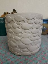 Planter Clay Pot Fish in scolds Big & Small Unusual 6.5 tall 22 round