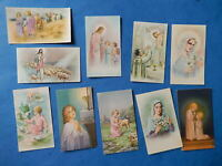 LOT 10 petites  IMAGES PIEUSES santini  JESUS MARIE ENFANTS MESSE  LTA