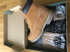 Grade B Timberland Men's 6-Inch Basic Wheat Nubuck Boot Men US Size 9