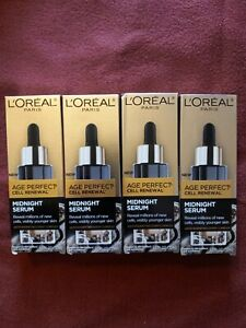 L'Oréal Age Perfection Cell Renewal Midnight Serum - 1oz.  (lot of 4)