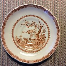 FURNIVALS 1913 - VINTAGE  - QUAIL - BROWN -  SAUCER - ENGLAND  -- FREE SHIPPING