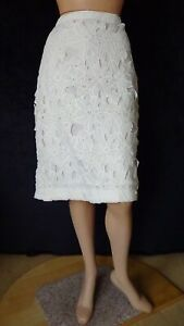 SIZE-14, SUSSAN Gorgeous White Lace Skirt.
