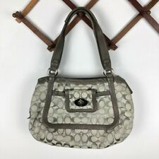 Coach Cricket Shoulder Bag Turnlock Satchel Purse 13604 Gray