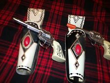 two vintage toy guns with original holsters excellent condition LOOK!!!