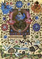 Visconti Hours Prayer Book, Creation of Birds. 1972 facsimile lithographic print
