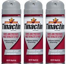 Tinactin Antifungal Athletes Foot POWDER Spray4.6 oz-3pack -GREY PRIORITY SHIP!