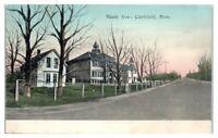 Maple Avenue, Clarkfield, MN Hand-Colored Postcard