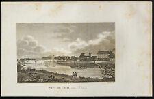 1829 - Gravure Pont de Creil sur l'Oise
