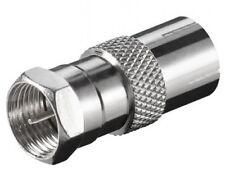 goobay sat tv verbinder adapter f stecker male an 9,5mm koax koaxial iec buchse