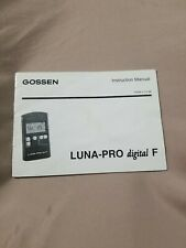 Gossen Luna Pro F Light Meter - Instruction Book Only - 15009