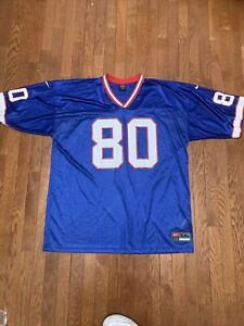 Nike Team Buffalo Bills Jersey Eric Moulds Men Size 3XL Blue