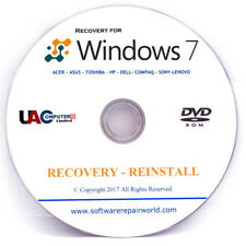 Windows 7 Professional 32/64 bit Re Install Restore Recovery DVD Disc Disk