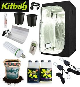 Complete Grow Tent Kit Grow Light Indoor Hydroponics set up system ALL SIZES