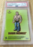 Shawn Michaels Wwe 2010 Topps Rumble Pack Sticker Card Psa Graded pop 1