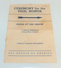 BSA - OA…CEREMONY FOR THE VIGIL HONOR…1954 PRINTING